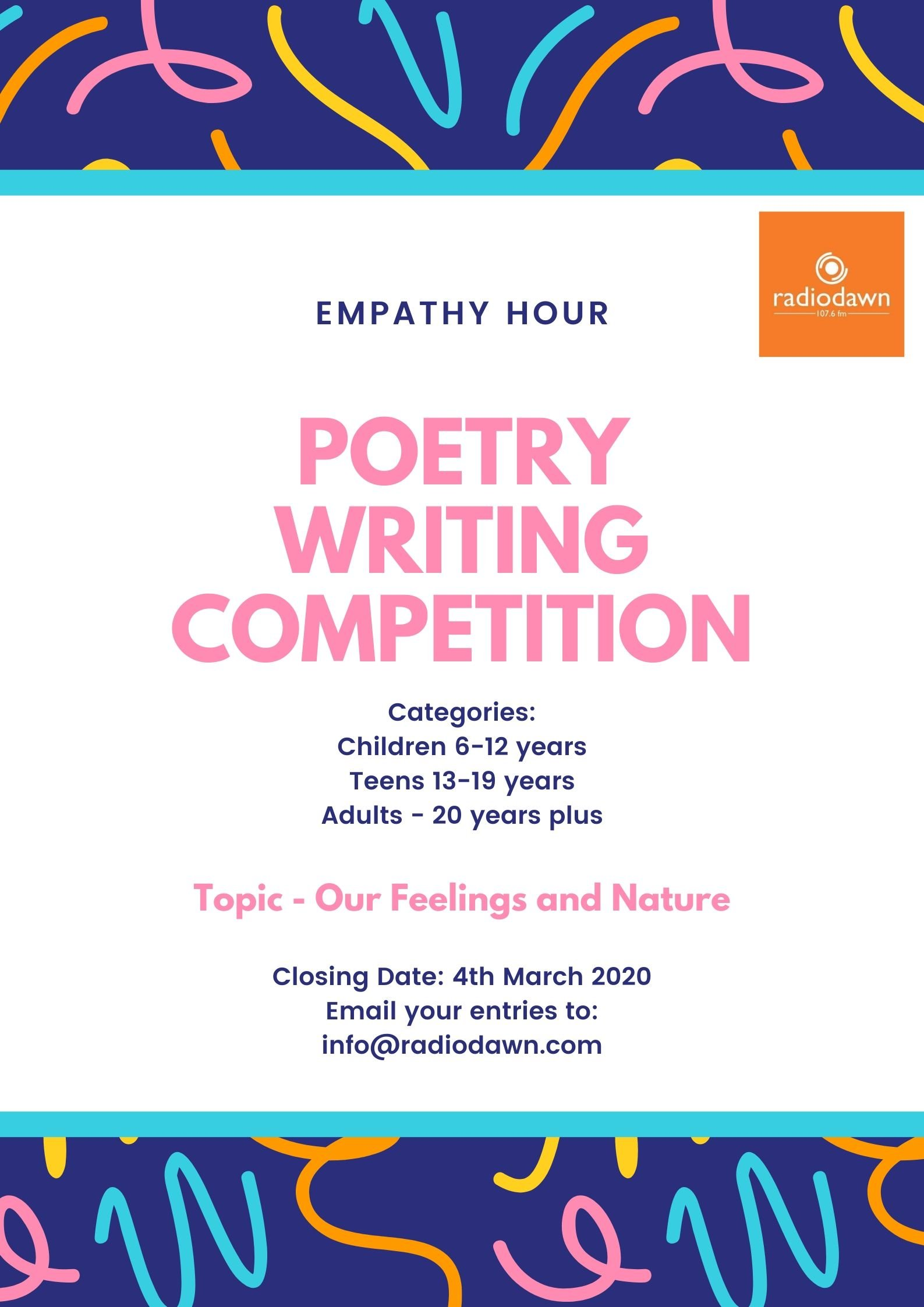 Poetry Writing Competition with the Empathy Hour
